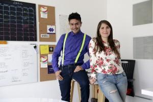 Daniela Buenfil y David Chimal, fundadores de Tlacuache Blue.