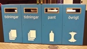 Así se administra la división de la basura en Suecia.