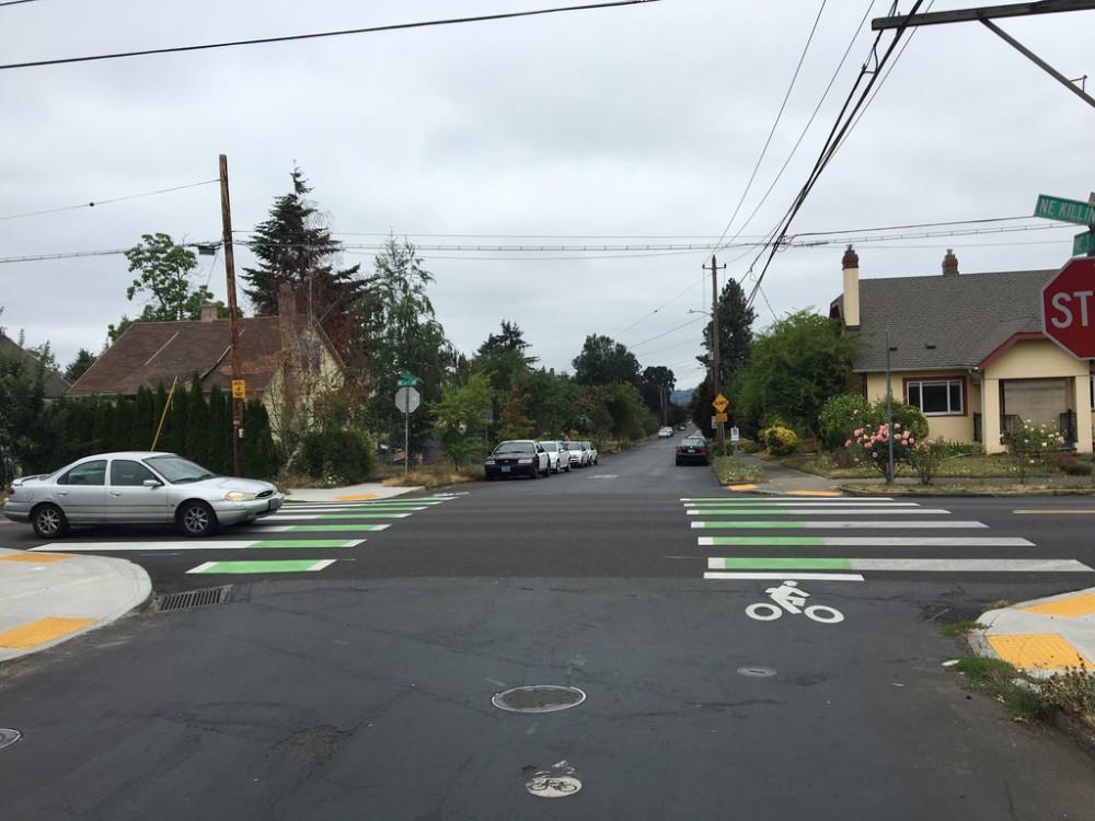 Introducen cruces en Portland para promover el cuidado hacia los ciclistas