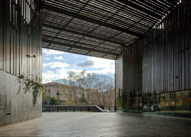 La Lira Theater Public Open Space, 2011, Ripoll, Girona, Spain, In collaboration with J. Puigcorbé