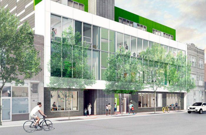 Diseño urbano digno en albergue de Chicago