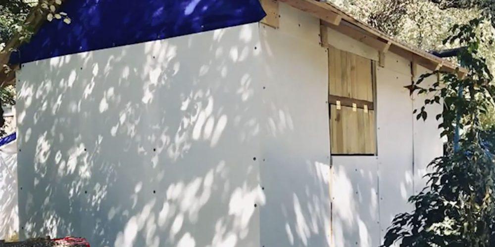 Estudiantes de la UNAM construyen casa para afectados del 19-S