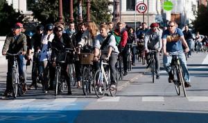 El 50% de la población utiliza bicicleta en Copenhague.