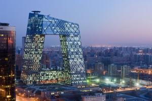 El edificio de CCTV en Beijing, diseñado por el Buro Ole Scheeren.