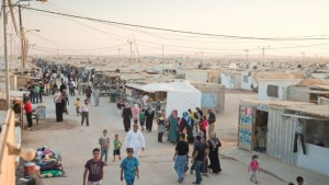 Calle principal del campo de Zaatari.