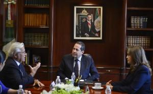 Eruviel Ávila en reunión de trabajo con Joan Clos, director ejecutivo de ONU-HÁBITAT.