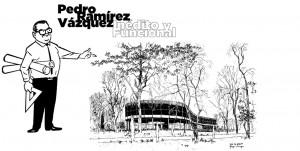 Imagen diseñada para la exposición de Pedro Ramírez Vázquez en el Museo de Arte Moderno.
