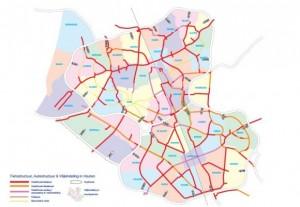 Hoy día, Houten cuenta con siete líneas de buses conectadas a las salidas de tren y principales ciclovias de la región.