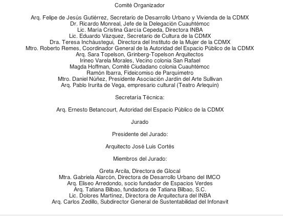 Comité organizador y Jurado |Imagen: AEP CDMX