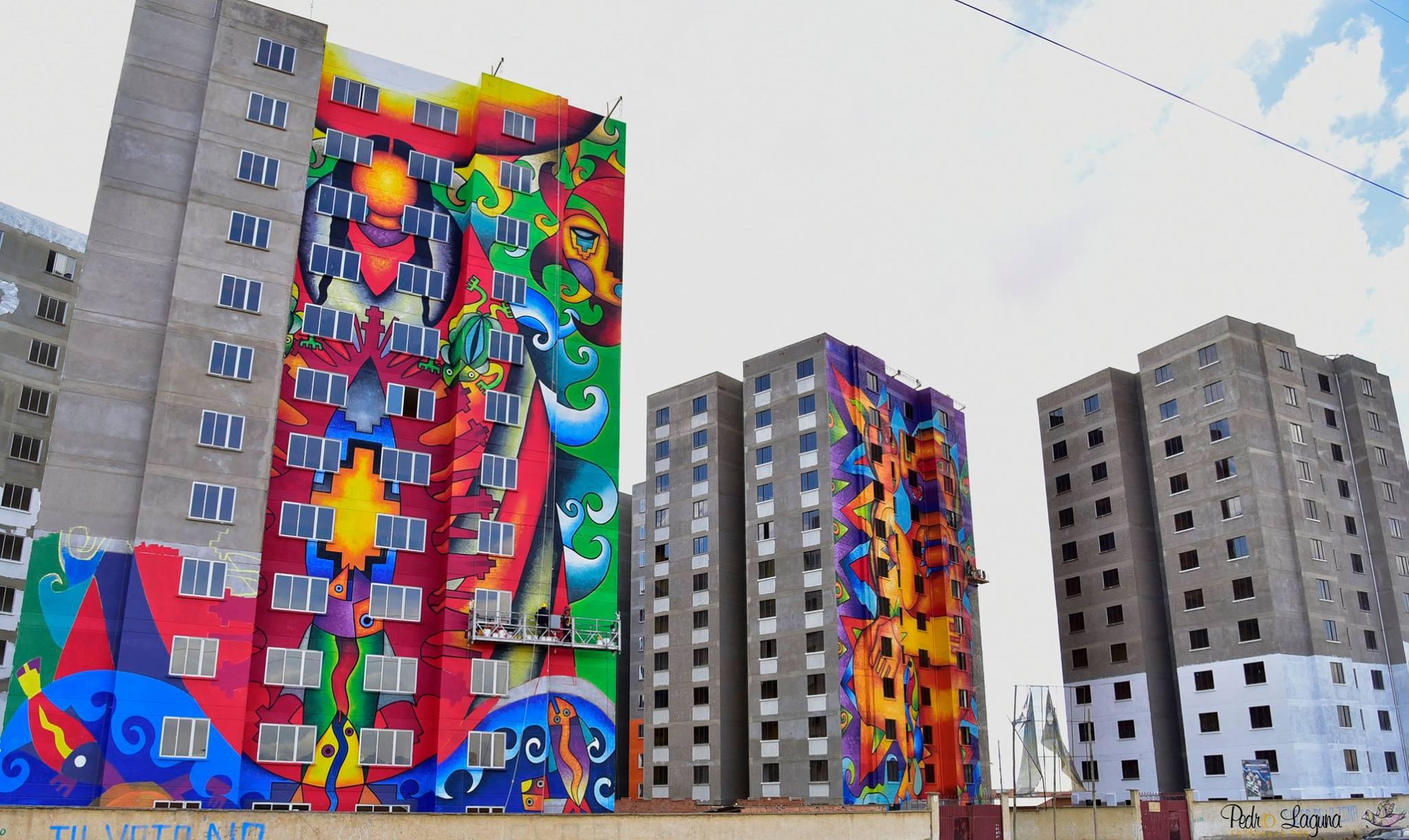Arte urbano transforma  comunidades en Bolivia