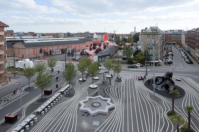 Superkilen, un parque que rompe las barreras culturales
