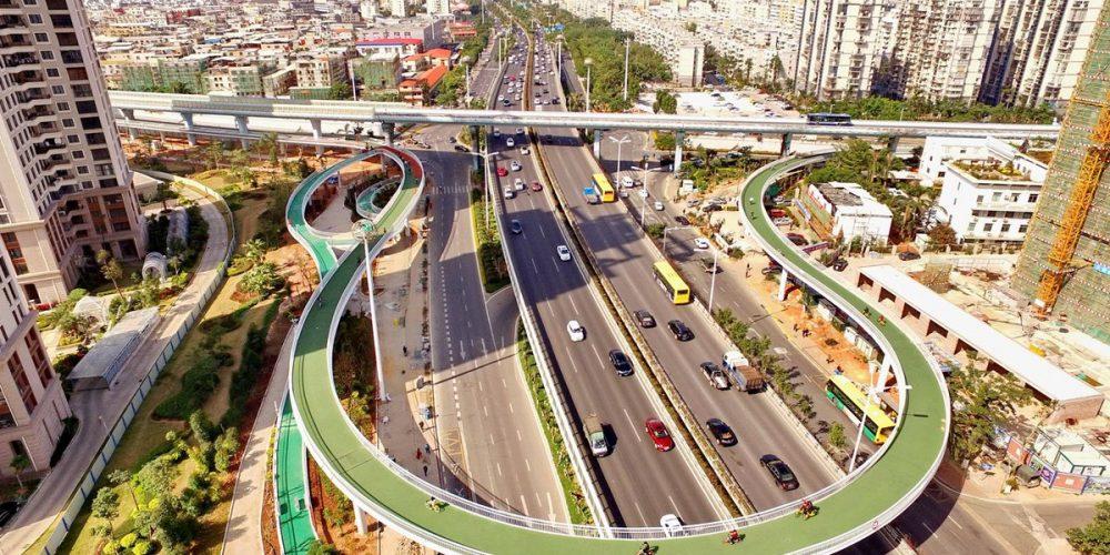 China tiene la ciclovía elevada más larga del mundo