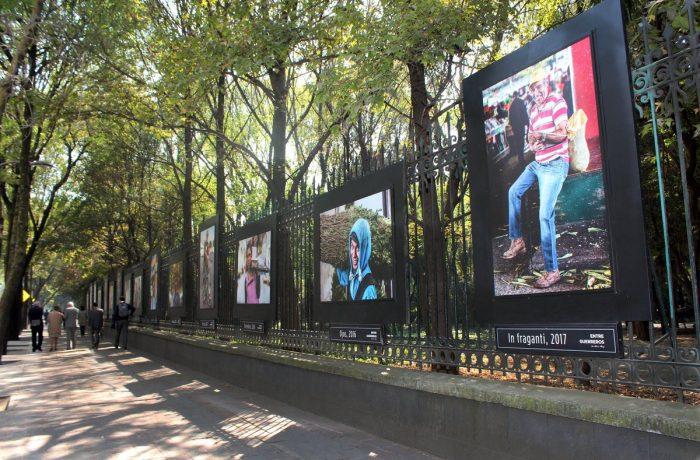 Exposición 'Entre Guerreros' se exhibe en Reforma