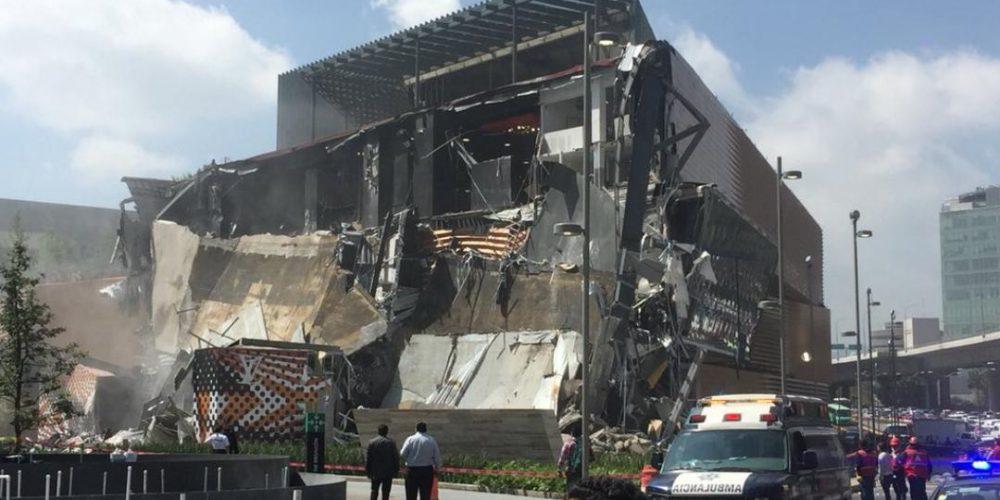 Plaza Artz Pedregal tras derrumbe.