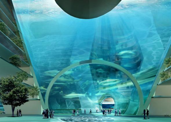Conoce la Ciudad Flotante con calles bajo el agua y submarinos